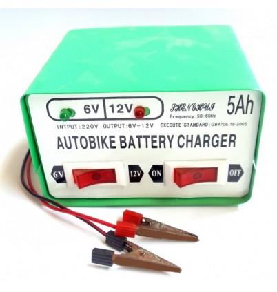 Зарядно за акумулатор 6V/ 12V 5Ah