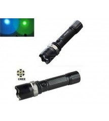 LED фенер CREE T-606 Green/Blue