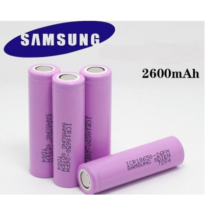 Акумулаторна батерия Samsung ICR18650-26J 2600mAh-Pink